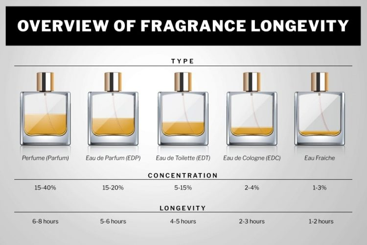 overview of fragrance longevity infographic