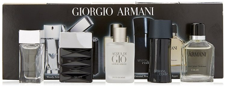 Giorgio Armani Mini Attitude - 5 Piece Gift Set for Men