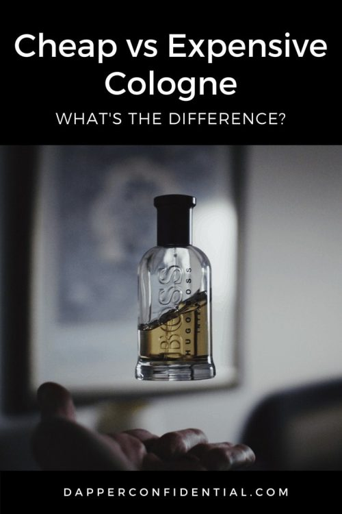 Cheap vs Expensive Cologne pin for pinterest