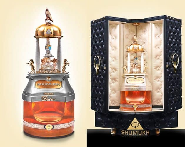 Most Expensive Cologne  SHUMUKH By Spirit of Dubai Parfums elaborate bottle and case