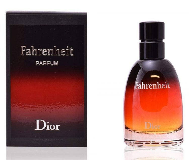 Fahrenheit Dior parfum bottle and box