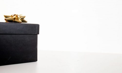 black gift box for a man
