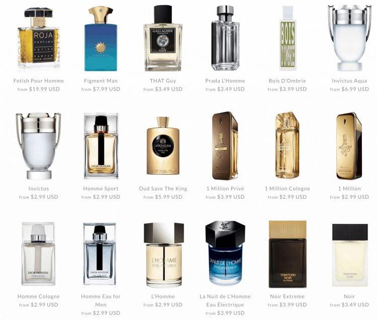 best-selling men's fragrance decants