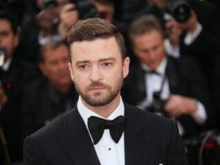 Justine Timberlake in black tie
