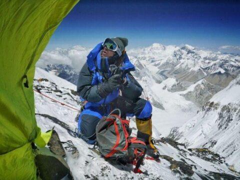 Mountain Climber Adrian Ballinger on #HairByEverest at 28,000 Feet