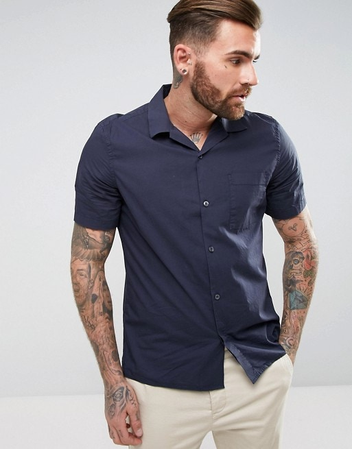Cuban Collar Shirt by French Connection