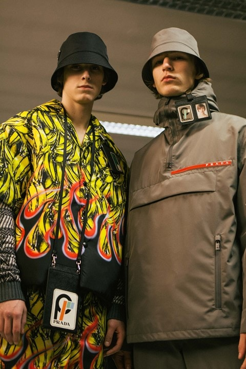 Men wearing Prada Rave outfit
