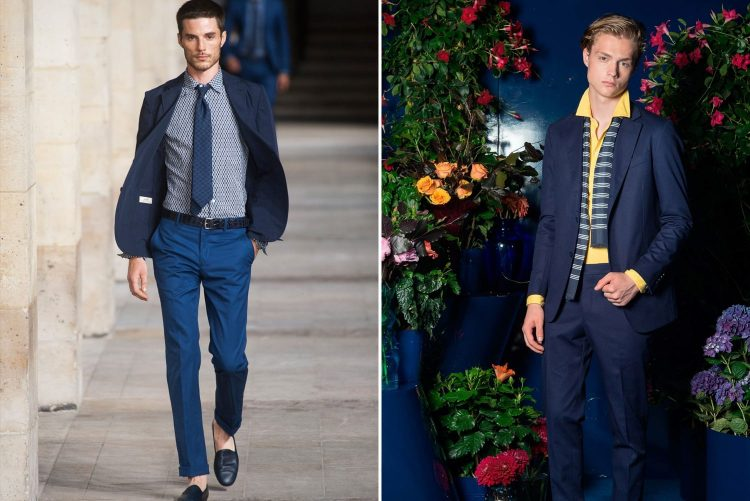 ways to wear a blue suit