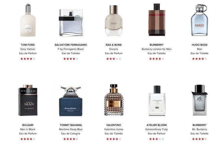 ScentBird Fragrance List