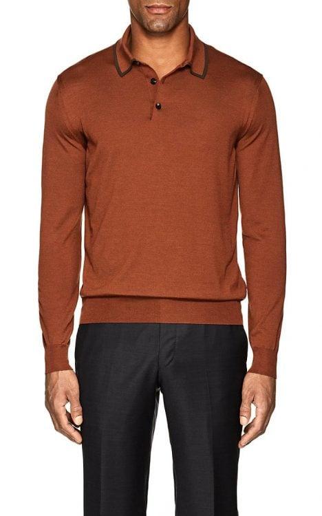 Brown Silk Shirt from Zegna