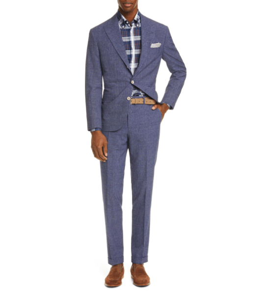 Glen Plaid Suit BRUNELLO CUCINELLI