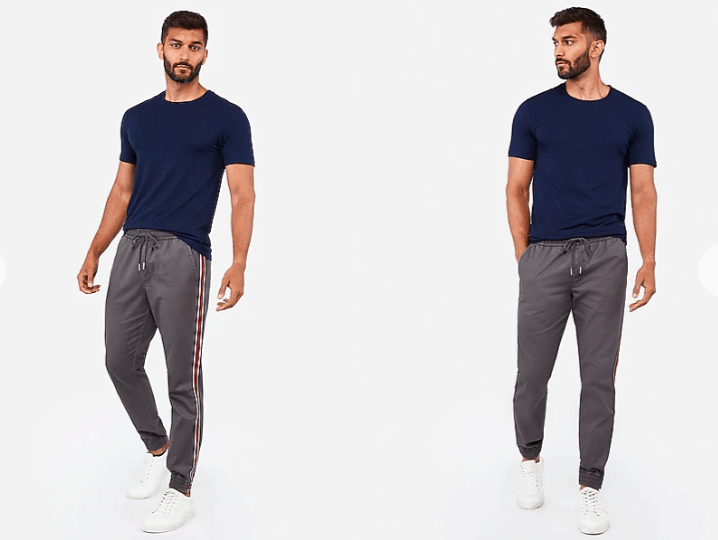 Stripe Jogger outfits men