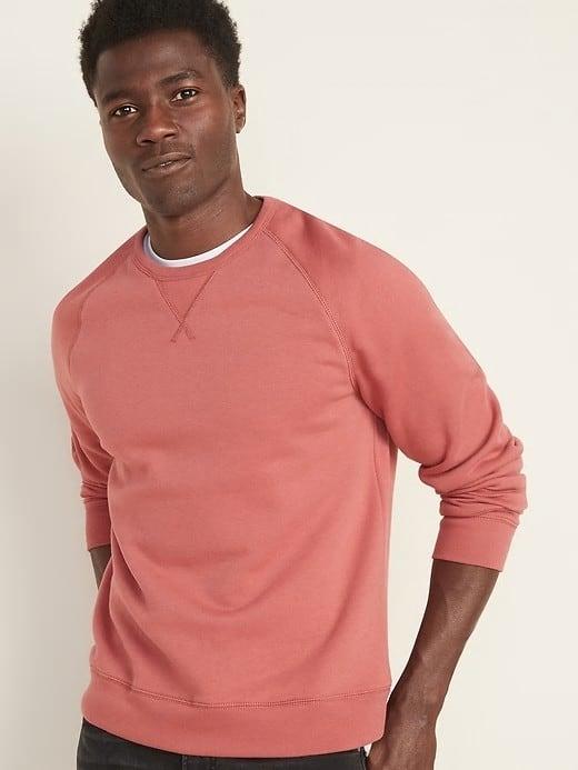 men wearing sweatshirt pink