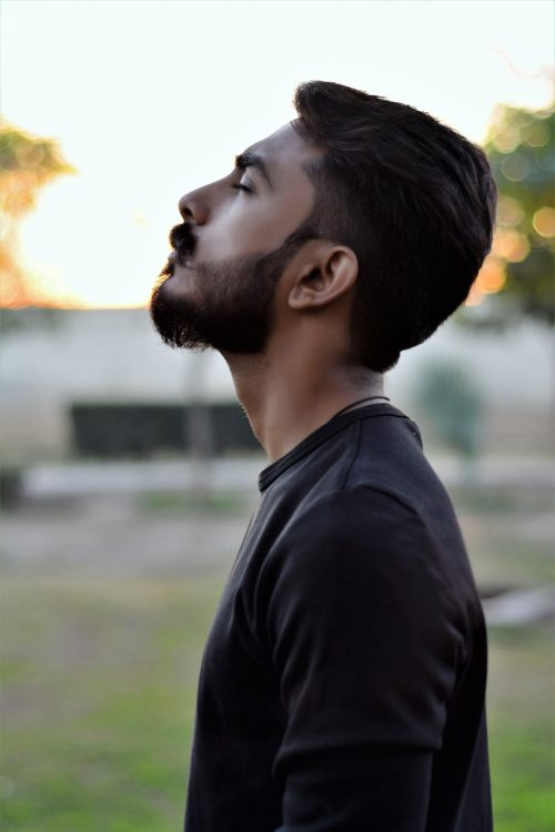bearded young man