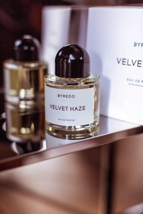 byredo velvet haze bottle