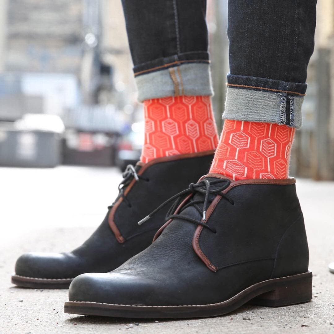 bright red sock