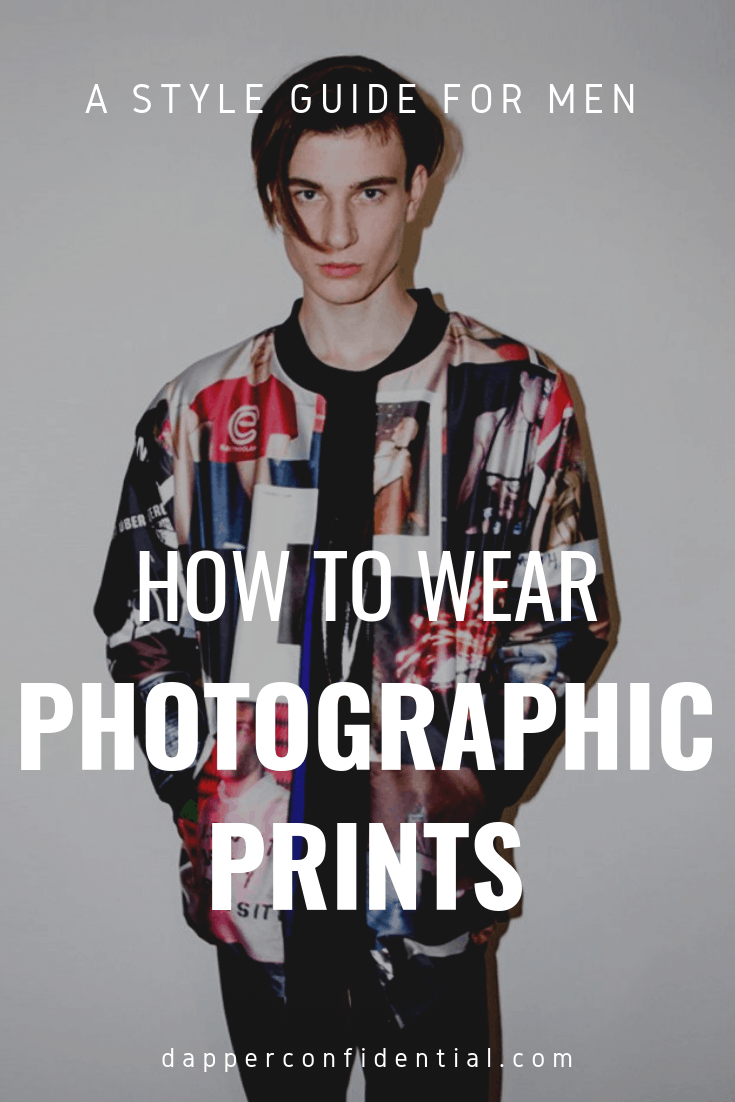 Photographic prints are trending but how do you wear them? Read details in the blog! #mensfashion #style #fashion