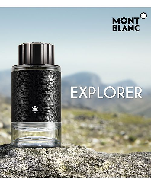 Montblanc Explorer EDP outside presentation in the mountain at a rock