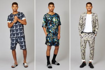 Mens matching shirt and shorts set