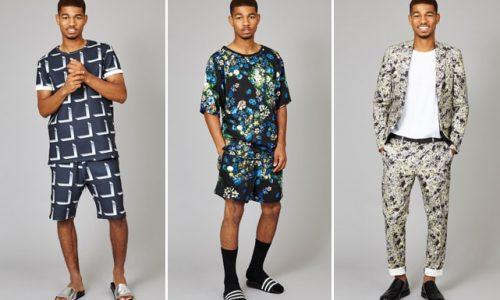 Mens matching shirt and shorts set