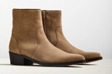 Brown boots with heels for men