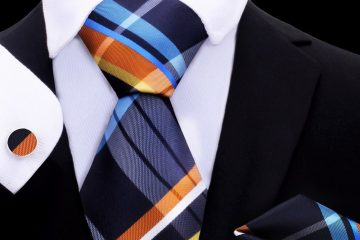 Man with colorful tie