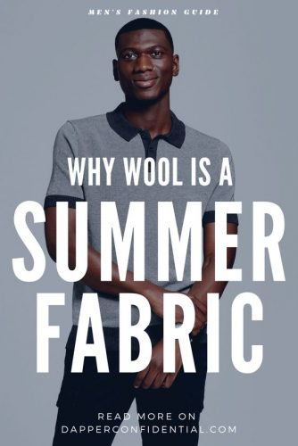 Man in summer wool