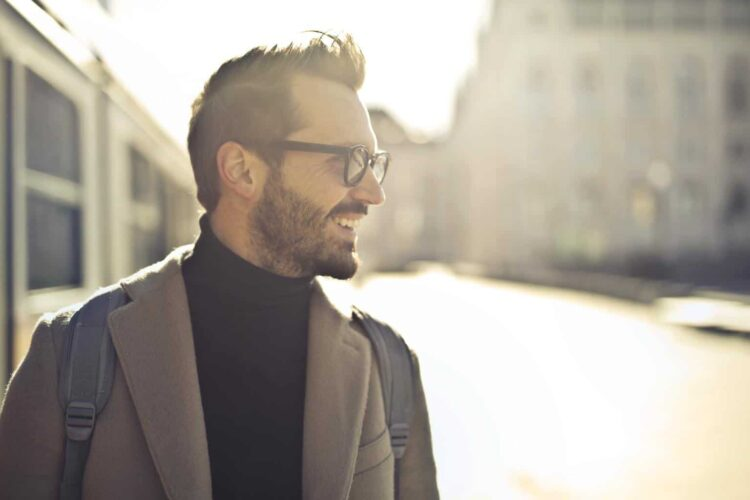 Man with glasses and a turtle neck