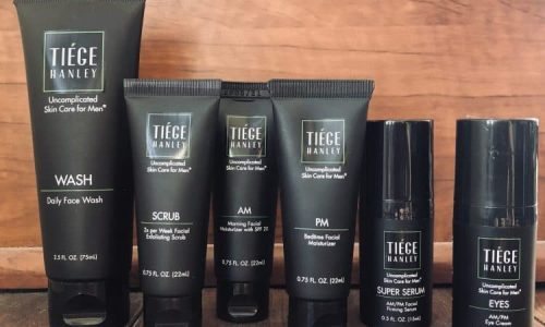 Tiege Hanley assorted products lined up
