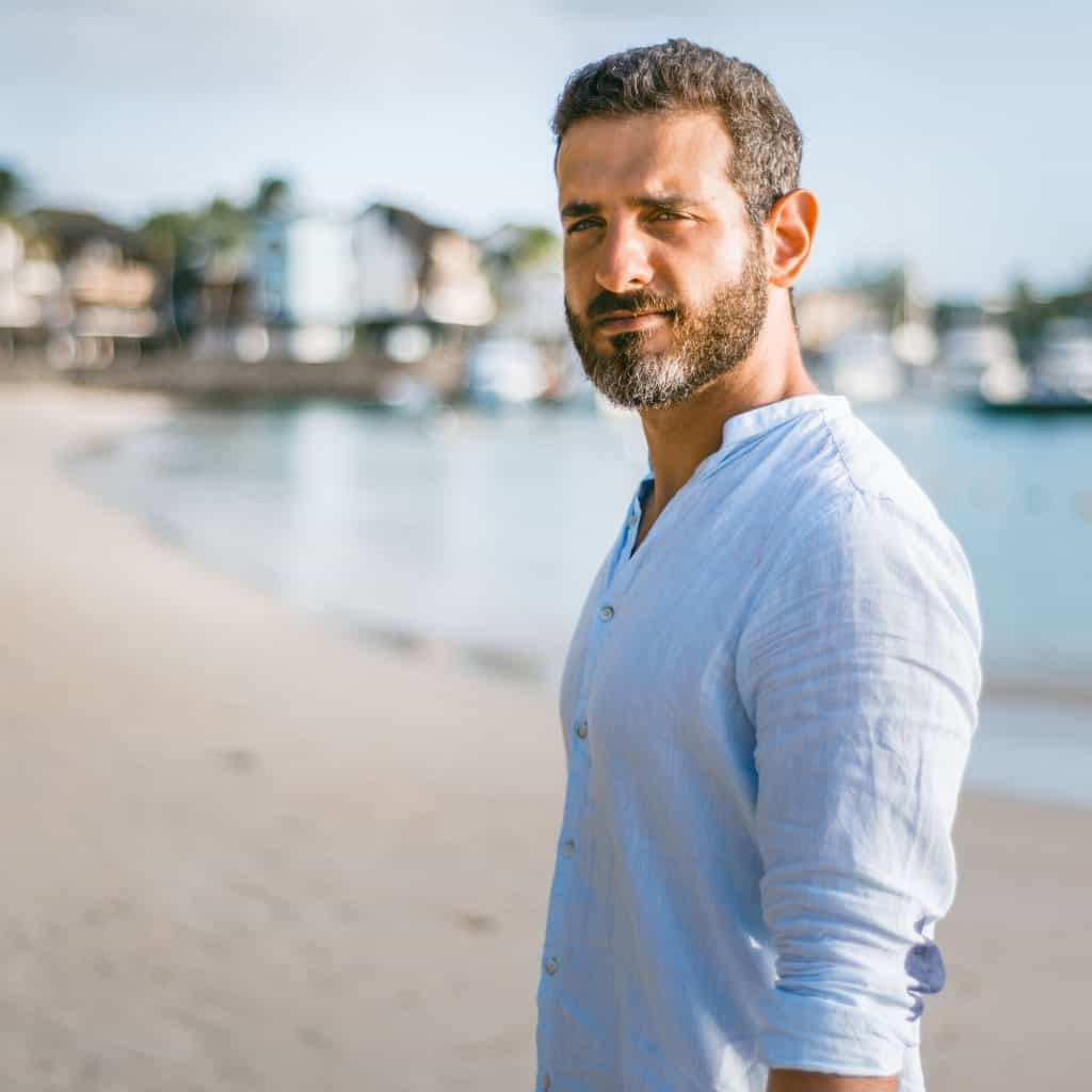 Man with graying beard