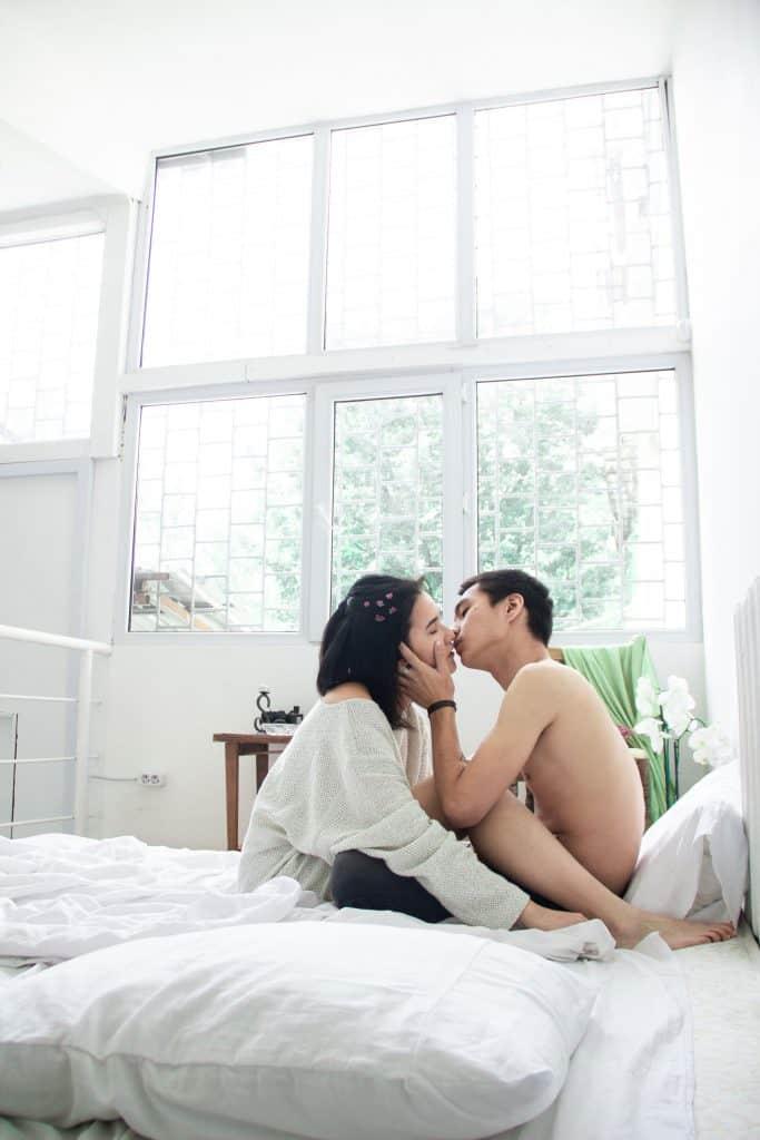 kissing clean shaven men