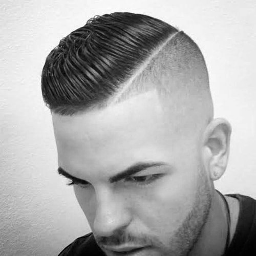 Man with short sides and back hairstyle but longer on top