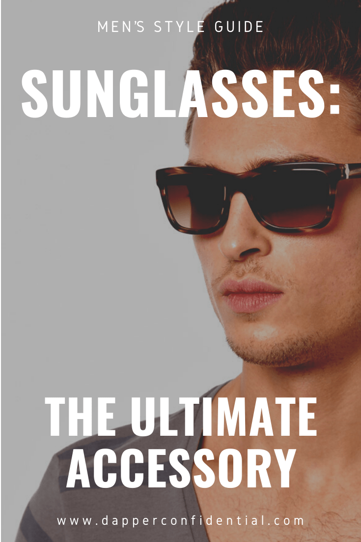 Man with sunglasses - pin for Pinterest