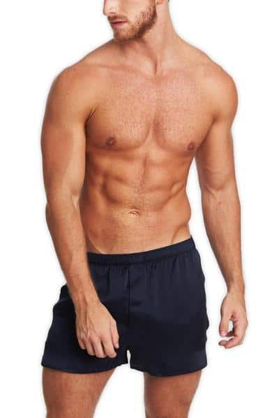 Man wearing a Tani silk Boxers
