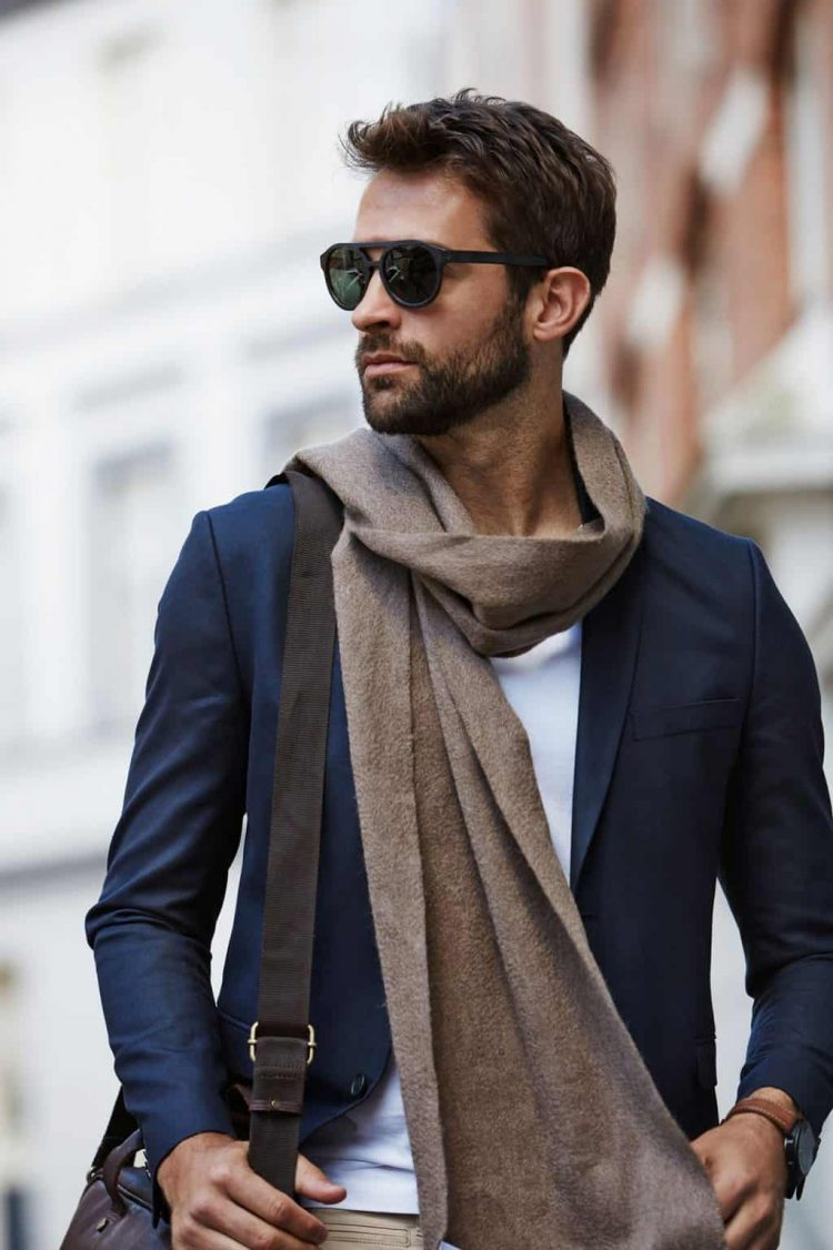 wearing-scarf-looped-suit