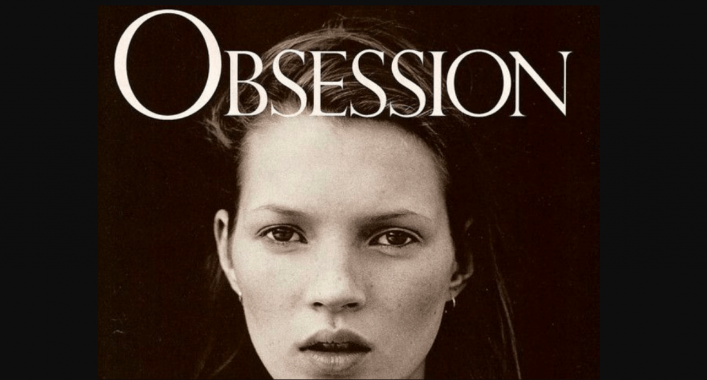 Obsession for men poster with Kate Moss