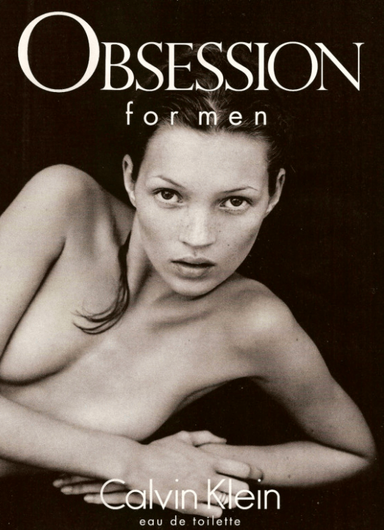 Obsession for men iconic ad with Kate Moss