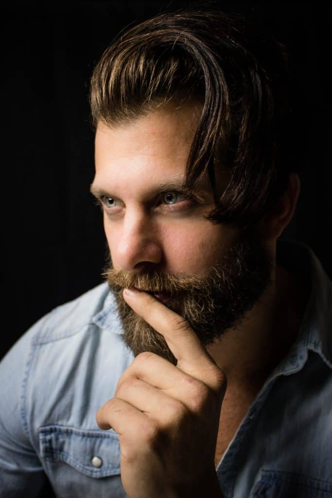 man with well trimmed beard