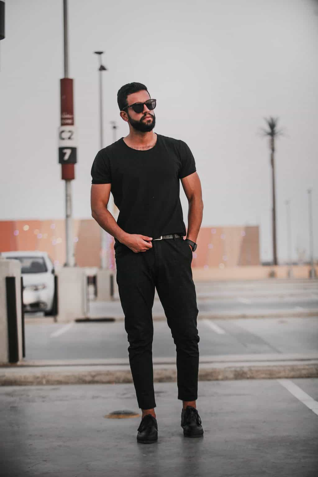 man-pure-black-attire