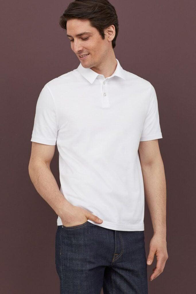 White shirt by H&M