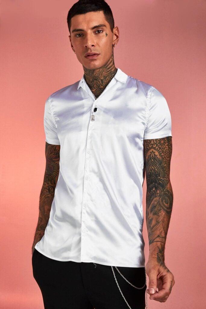 Boohoo white shirt