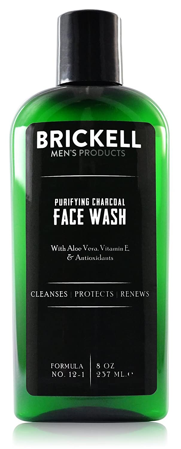 Purifying Charcoal Face Wash for Men by Brickell