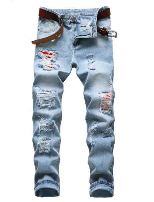 COOSVEN Men Ripped Jeans