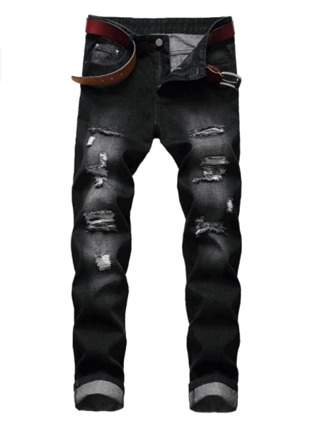LZLER Mens Ripped Jeans