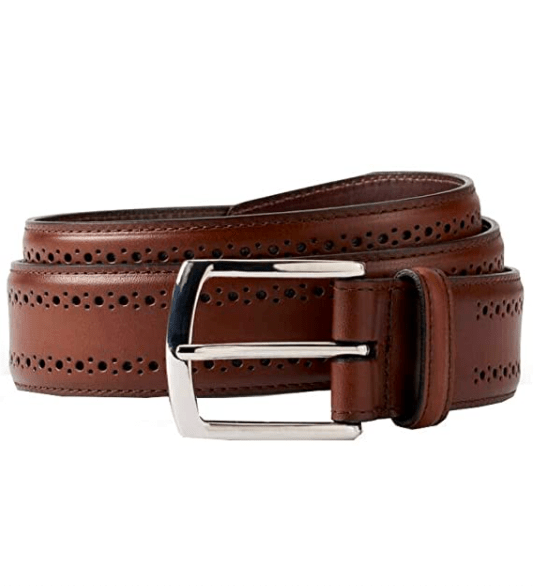 Brooks Brothers Leather Perforated Belt