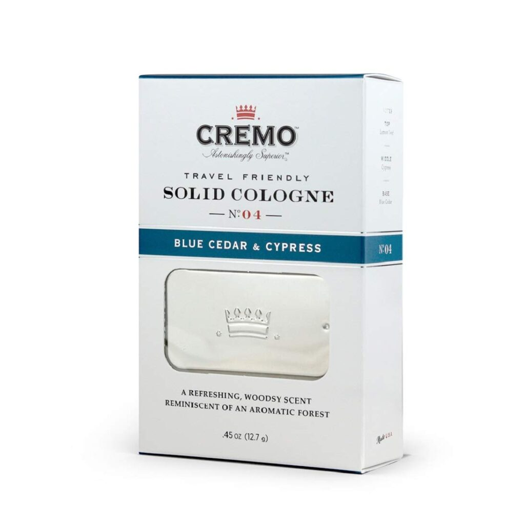 Cremo Blue Cedar and Cypress Solid State Cologne