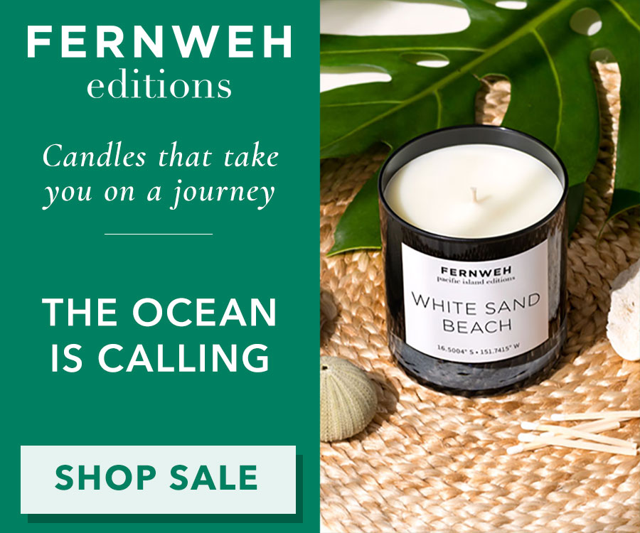 Fernweh White Sand Beaches Candle