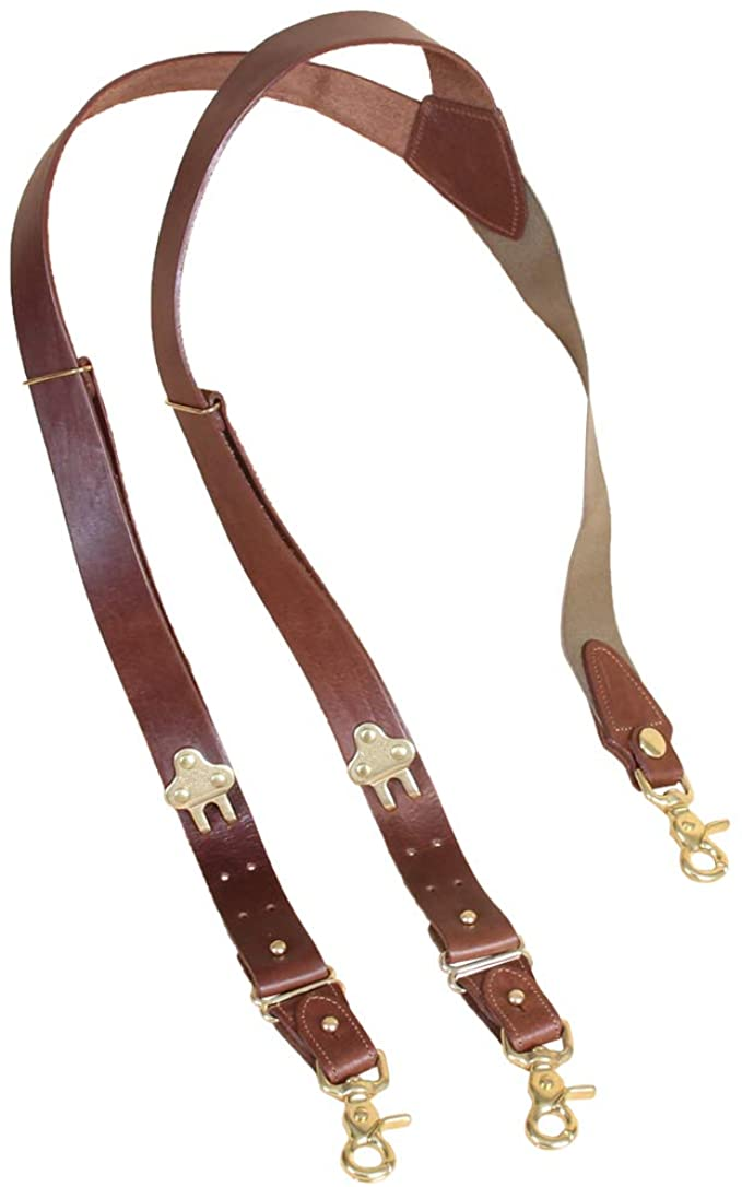 Suspenders leather