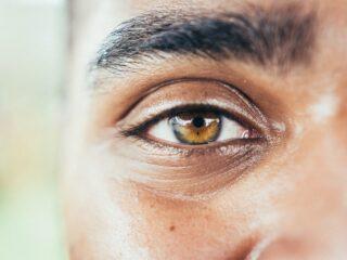 mans eye