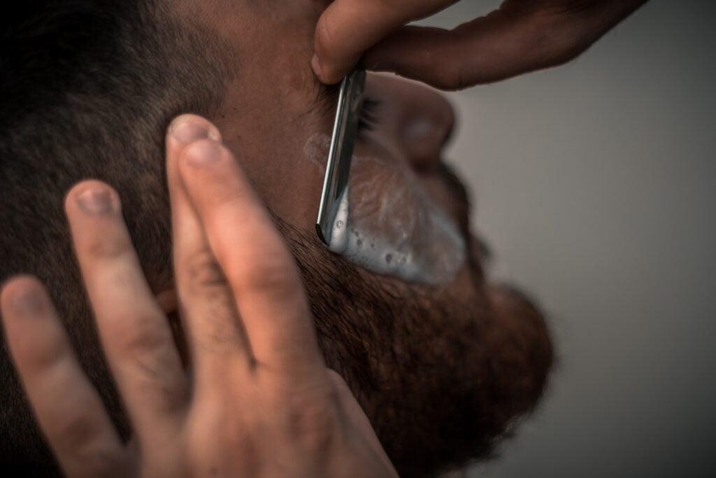 using straight razor